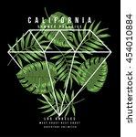california typography for t... | Shutterstock .eps vector #454010884