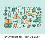 set of camping icons. | Shutterstock .eps vector #454011154