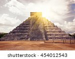 el castillo  the kukulkan... | Shutterstock . vector #454012543
