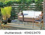 Empty Garden Terrace  Bamboo...
