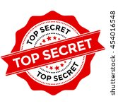 top secret red stamp vector... | Shutterstock .eps vector #454016548