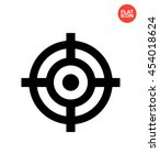 aim mark icon flat style... | Shutterstock .eps vector #454018624