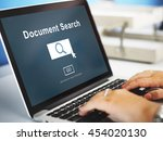 document search finding forms... | Shutterstock . vector #454020130