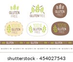 vector gluten free sign set | Shutterstock .eps vector #454027543