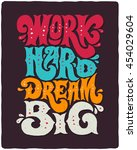 motivational lettering poster... | Shutterstock .eps vector #454029604