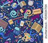 back to school. seamless... | Shutterstock .eps vector #454034704
