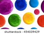 hand drawn polka dots seamless... | Shutterstock . vector #454039429