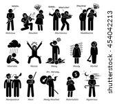 negative personalities... | Shutterstock . vector #454042213