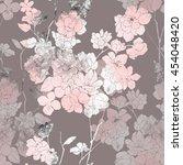 imprints japanese sakura... | Shutterstock . vector #454048420