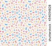 memphis style seamless pattern. ...   Shutterstock .eps vector #454054828