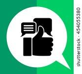 appreciations simple icon | Shutterstock .eps vector #454055380