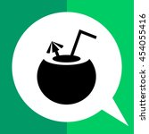 coconut cocktail | Shutterstock .eps vector #454055416