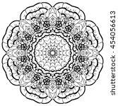 mandala. round ornament.vintage ... | Shutterstock .eps vector #454056613