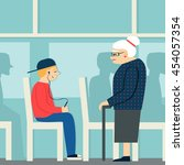 Good Manners.retired Woman In...