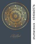 thai art element for design ... | Shutterstock .eps vector #454060576