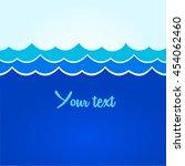 blue waves sea ocean vector...   Shutterstock .eps vector #454062460