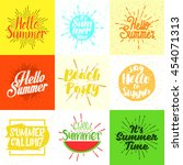set of summer vector... | Shutterstock .eps vector #454071313