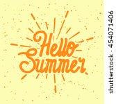 summer vector illustration... | Shutterstock .eps vector #454071406