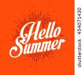summer vector illustration...   Shutterstock .eps vector #454071430