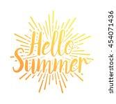 summer vector illustration... | Shutterstock .eps vector #454071436