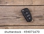 car key with remote alarm... | Shutterstock . vector #454071670