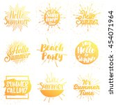set of summer vector... | Shutterstock .eps vector #454071964