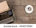 vintage typewriter on the old... | Shutterstock . vector #454072984