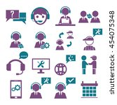 support  service icon set | Shutterstock .eps vector #454075348