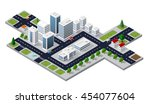 isometric 3d cityscape view of...