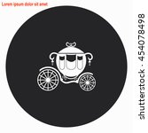 carriage web icon. gray circle... | Shutterstock .eps vector #454078498