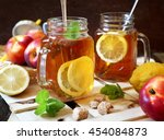 Iced Tea With Lemon Slices And...