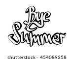 bye bye summer  isolated... | Shutterstock .eps vector #454089358