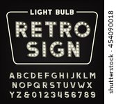 retro sign alphabet. vintage... | Shutterstock .eps vector #454090018