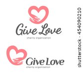 logo for charity and care. logo ... | Shutterstock .eps vector #454090210