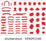 vector ribbons set. modern flat ... | Shutterstock .eps vector #454091140