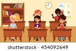 cartoon vector illustration of...   Shutterstock .eps vector #454092649
