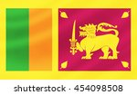 sri lanka flag   3d...   Shutterstock . vector #454098508
