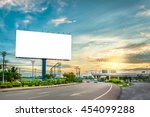 billboard blank for outdoor... | Shutterstock . vector #454099288