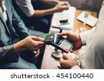 close up of a card payment... | Shutterstock . vector #454100440