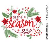 christmas card design with... | Shutterstock .eps vector #454106914