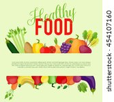 healthy food background with... | Shutterstock .eps vector #454107160