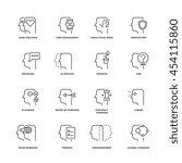 human mind process  brain... | Shutterstock .eps vector #454115860