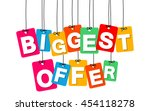 vector colorful hanging... | Shutterstock .eps vector #454118278