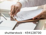 applicant filing in company... | Shutterstock . vector #454128730