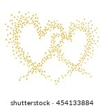 gold wave in the shape of two... | Shutterstock .eps vector #454133884