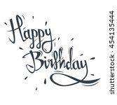 happy birthday greeting card... | Shutterstock .eps vector #454135444