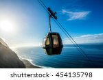 cable car going down along the... | Shutterstock . vector #454135798