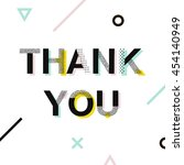 thank you card  typography... | Shutterstock .eps vector #454140949