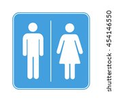 men and women toilet wc sign...
