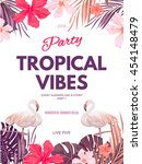bright hawaiian design with...   Shutterstock .eps vector #454148479